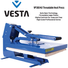 Vesta Professional Threadable Auto Open Heat Press Machine available in16x20