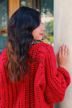 Load image into Gallery viewer, Red Lace Oversized Jacket
