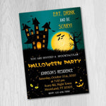 Load image into Gallery viewer, Halloween Birthday Invitation, Halloween Party Invitation, Halloween Invitation, Halloween Card - ONLY FILE
