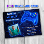 Load image into Gallery viewer, Video Game Party Invitations, Video Game Invitation, Video Game Photo Invitation, Video Game Boy Invitation, Gaming Invitation - ONLY FILE - mariiadesignshop