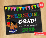 Load image into Gallery viewer, Preschool Graduation Sign, Last Day of Preschool Sign, Preschool Grad, instant download - mariiadesignshop