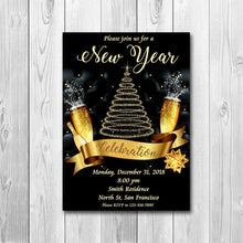 New Years Invitation, New Years Party Invitation, New Year's Eve Party Invitation, New Years Eve Invitation, 2020 New Year Invite, ONLY FILE