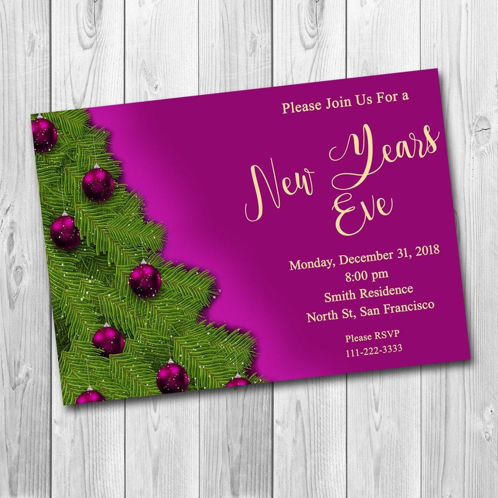 New Years Invitation, New Years Party Invitation, New Year's Eve Party Invitation, New Years Eve Invitation, 2020 New Year Invite - ONLY FILE - mariiadesignshop