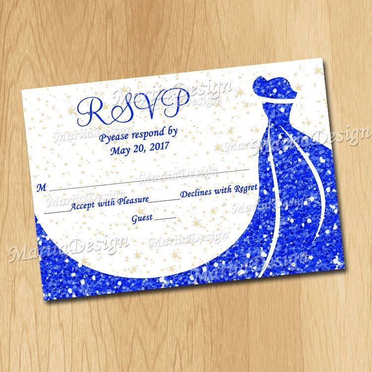 RSVP Card, printable Rsvp Card, Download Rsvp Card, Response cards, Reply Card, Blue Rsvp card - ONLY FILE