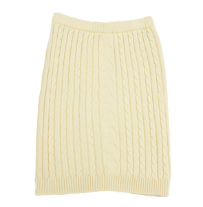 Rex - Jaeger yellow Aran knit tube skirt