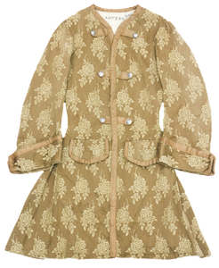 Rex - Brown military chinoiserie overcoat