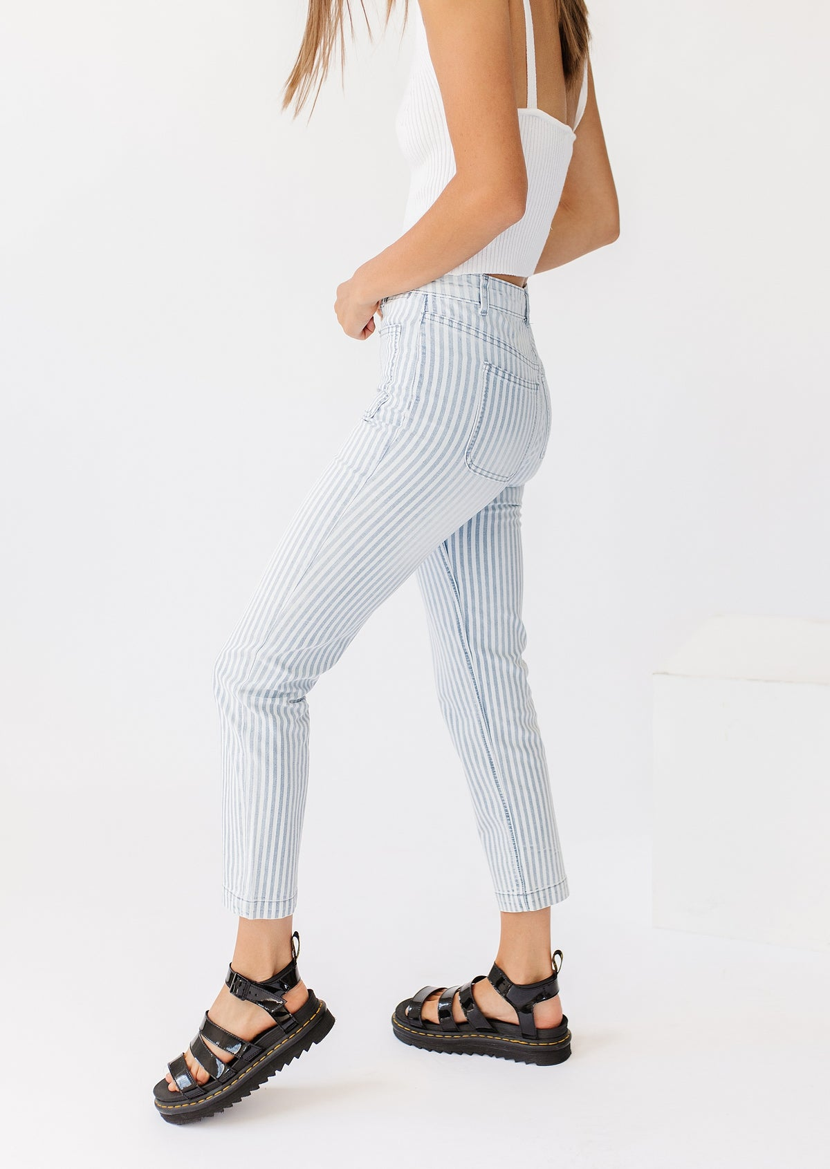 Peace & Love Striped Pant