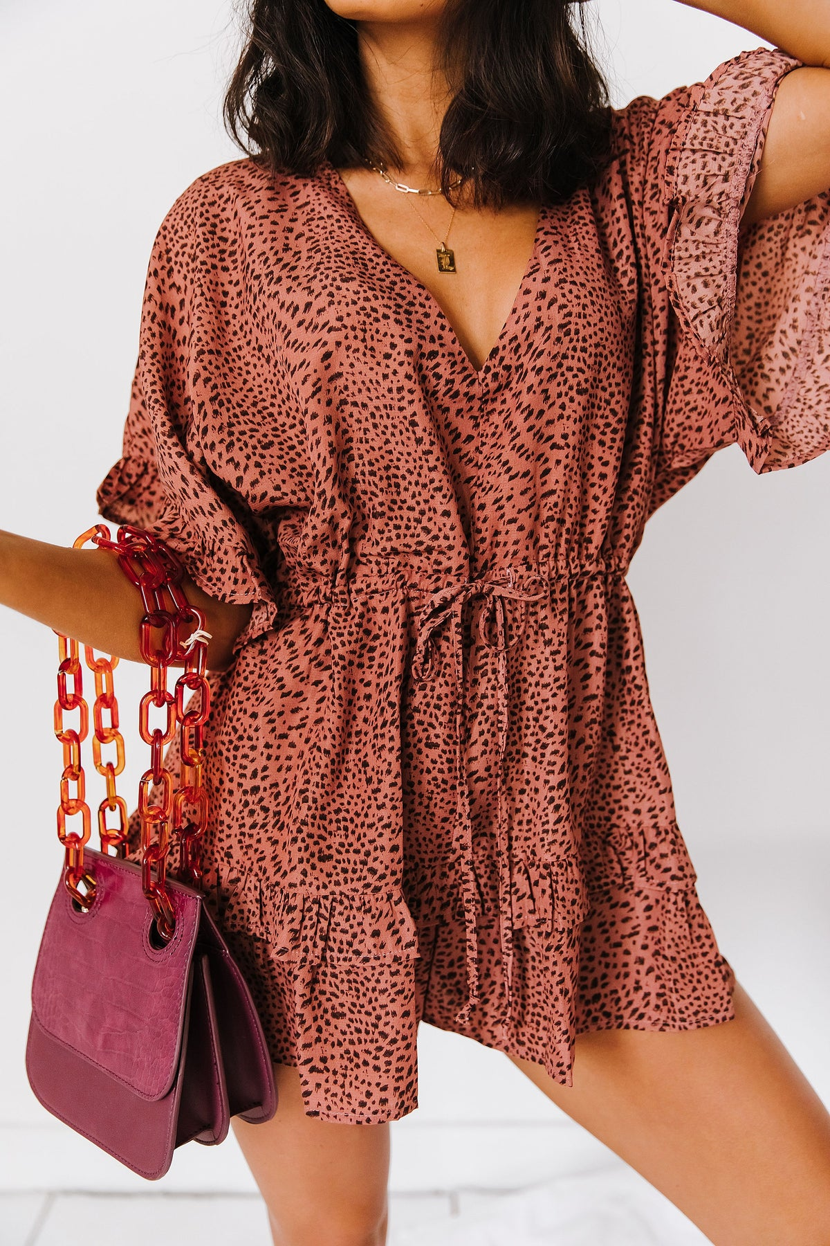 Keep Your Edge Leopard Romper