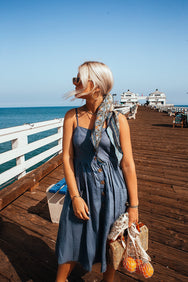 Summer of Sun Midi Dress in DENIM