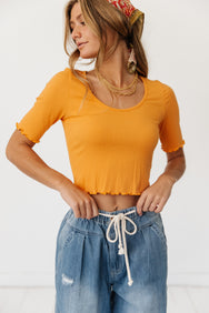 Weekend Sunsets Ribbed Top