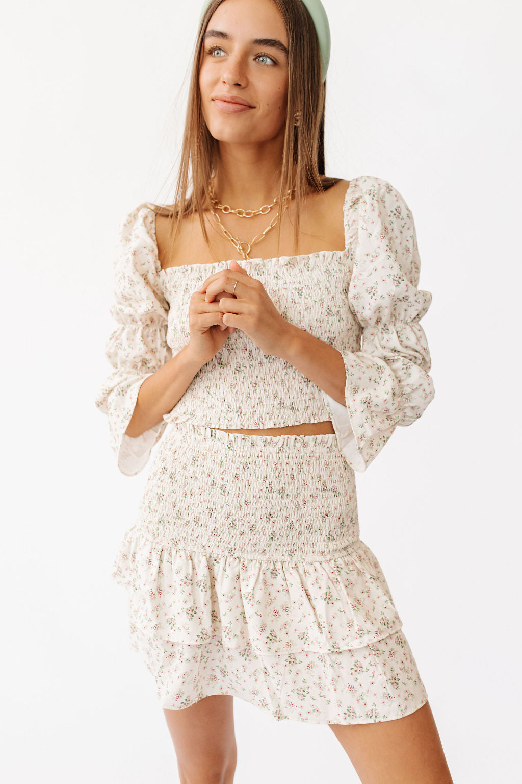 Paris Girl Floral Skirt