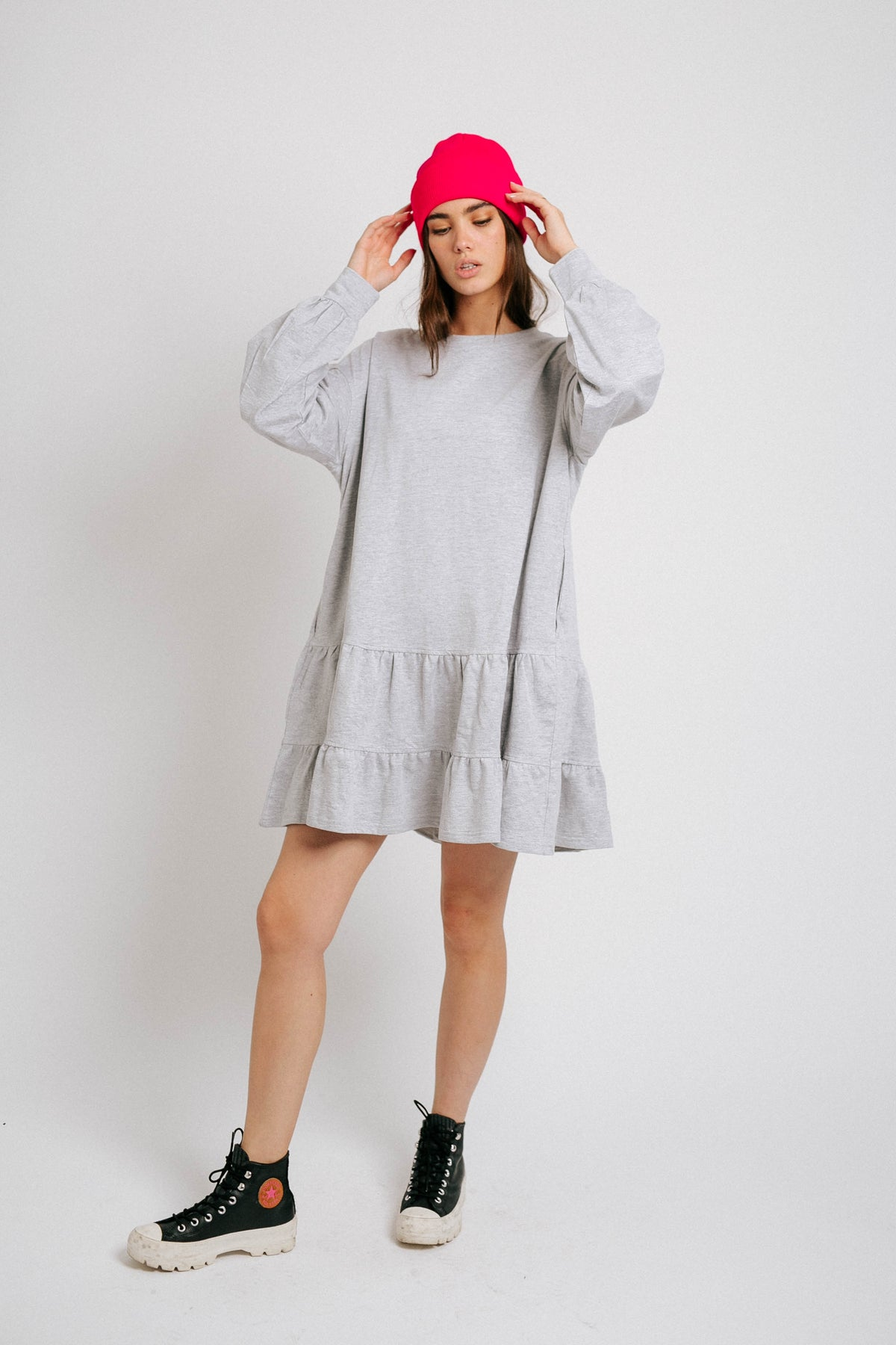 Cool With It Dress// Gray