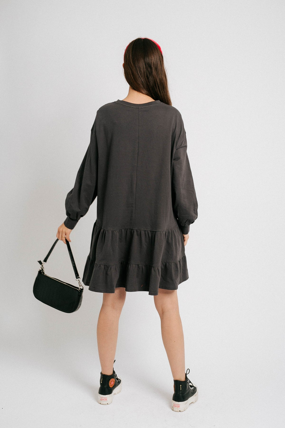 Cool With It Dress// Charcoal