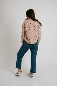 Stay Starry Tee// Blush