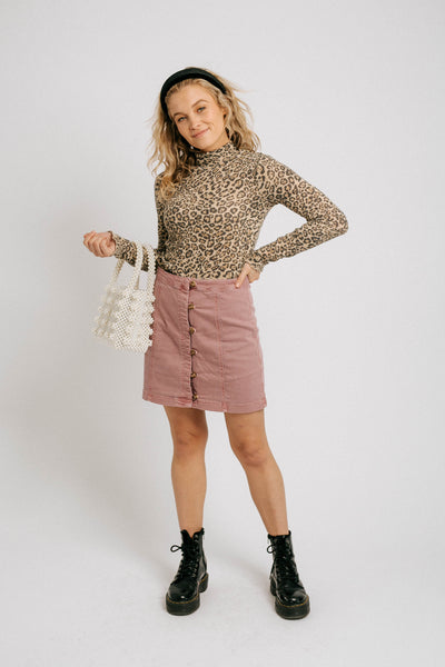Zoe Mini Skirt// Berry
