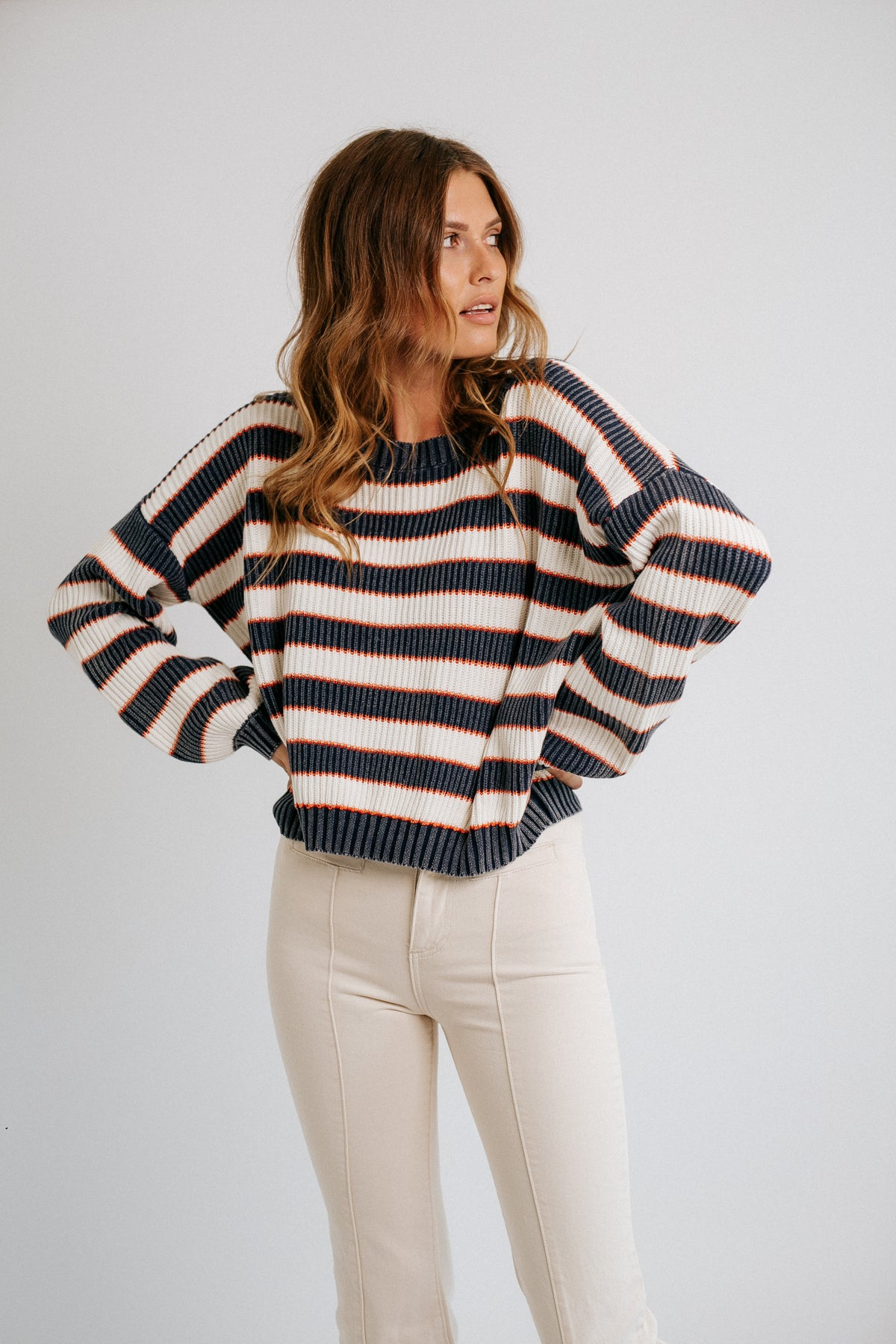 Stripe All Night Sweater