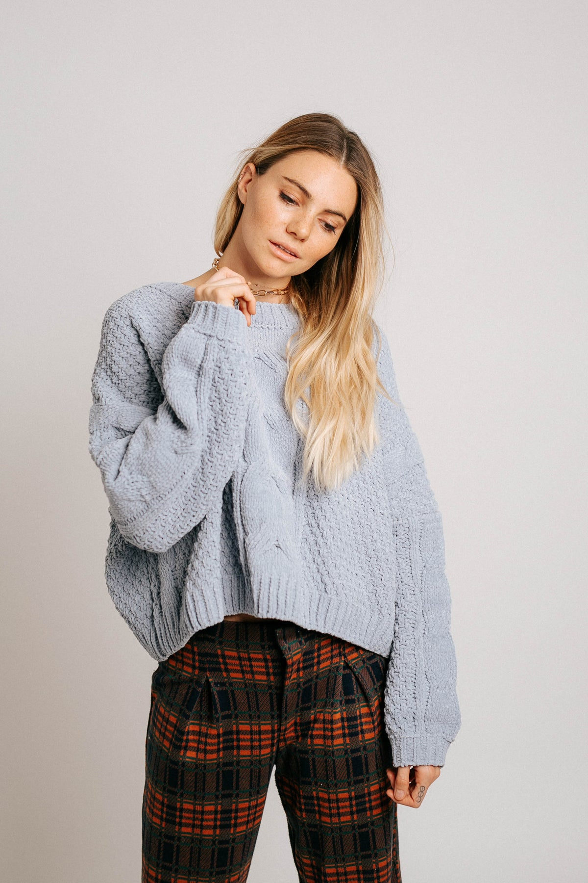 Cloud Bound Cable Sweater