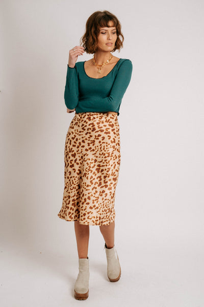 Leopard Lover Midi Skirt