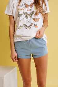 Sporty Girl Short- Sky Blue