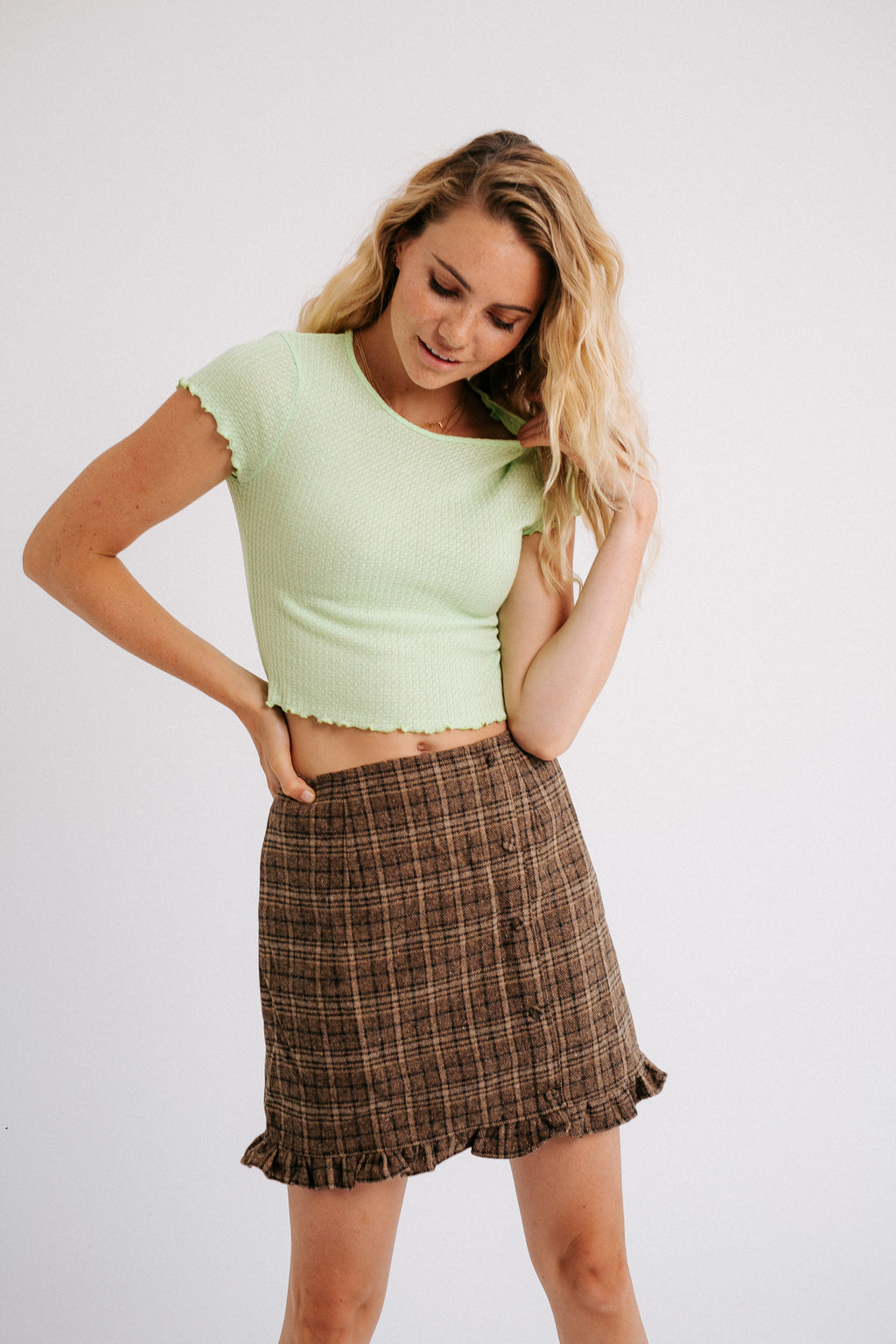 Harper Plaid Skirt