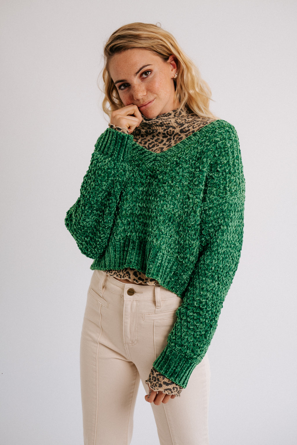 Silent Storm Sweater // Green