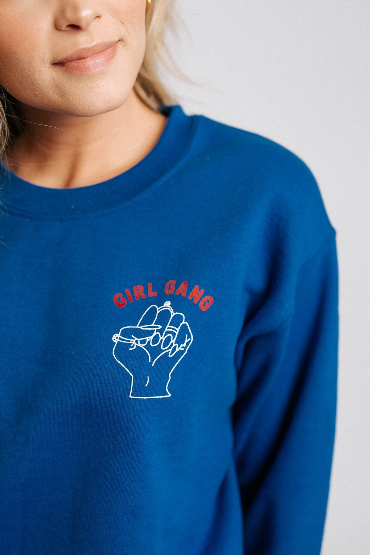 Girls Rule Boys Drool Pullover// Cobalt