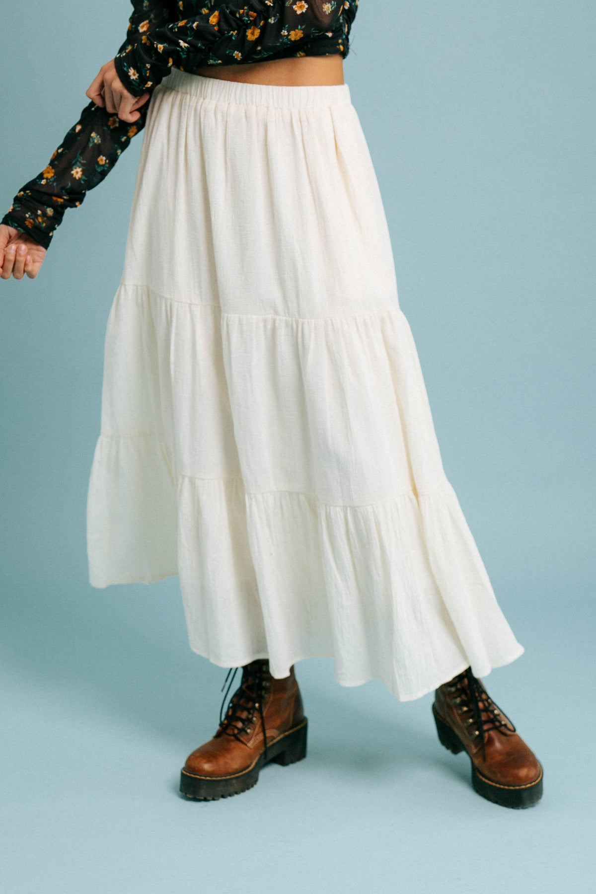 Sundown Maxi Skirt// Ivory