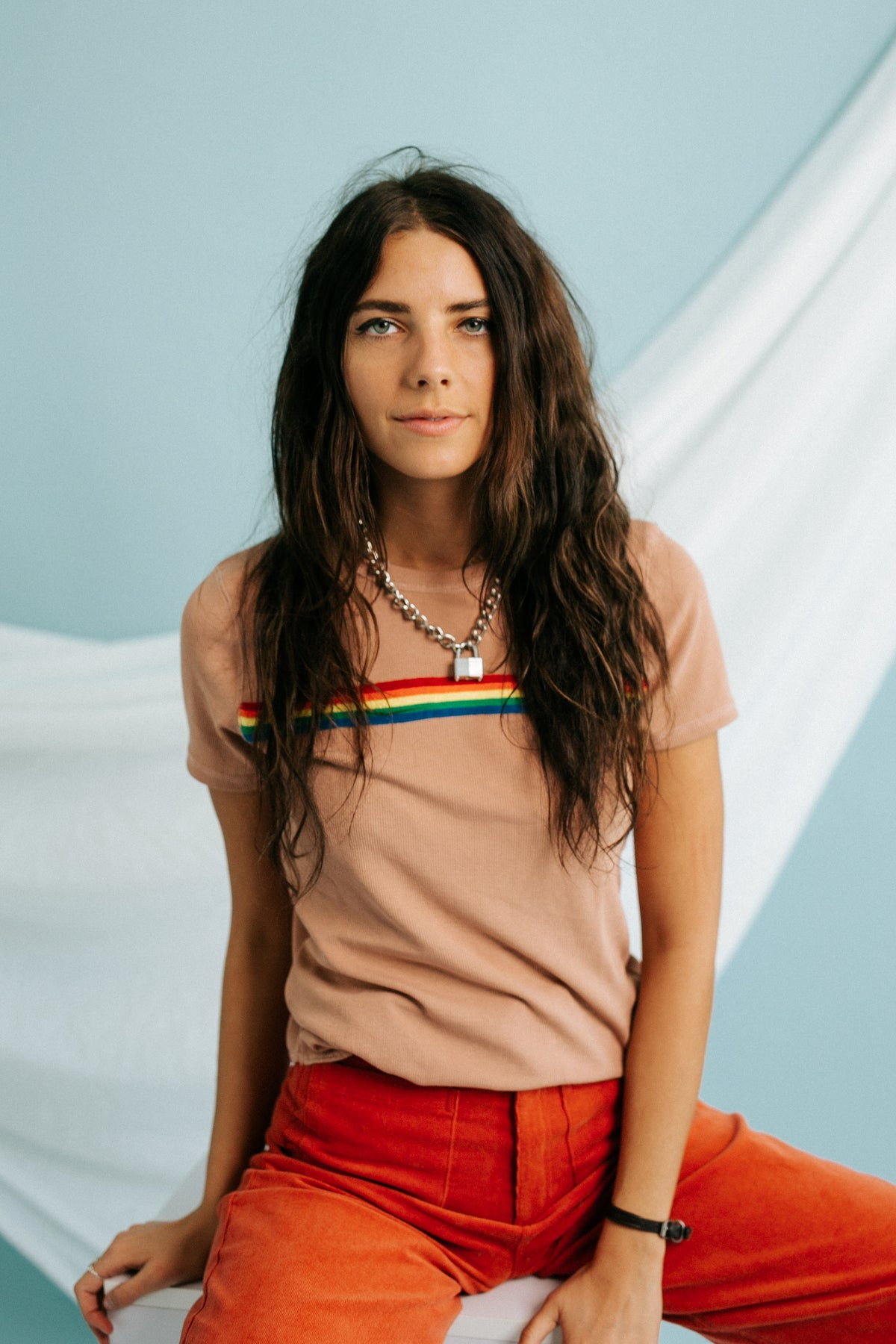 Over The Rainbow Ribbed Tee