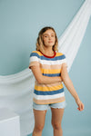 Golden Hour Striped Tee