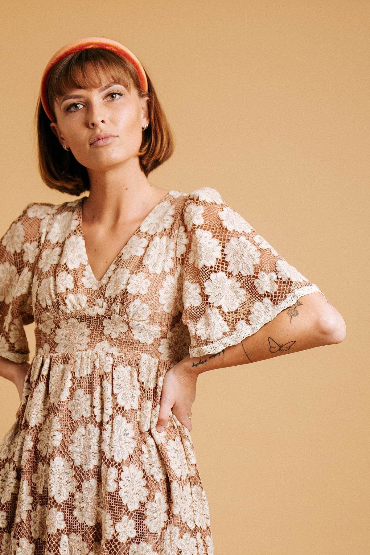 Hello Lover Lace Dress// Chai