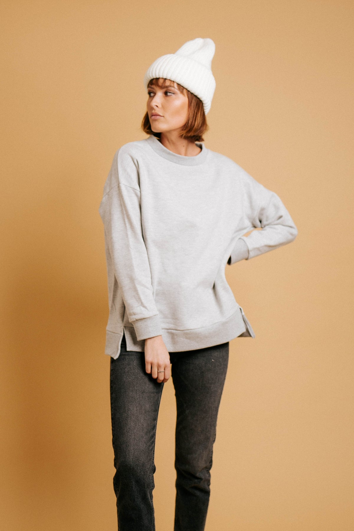 Lazy Sunday Pullover // Gray