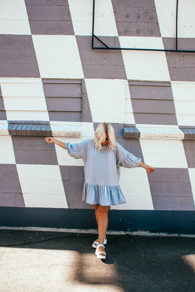 Summer Lovin' Dress in BABY BLUE
