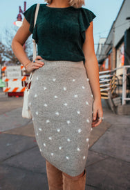 Sweet Romance Pom Knit Skirt