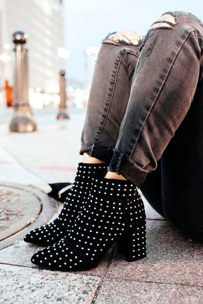 DANCIN' IN THE MOONLIGHT Studded Bootie