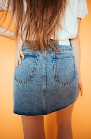 Turnin' Heads Denim Mini Skirt
