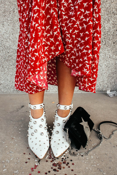 SOMETHING MAGIC STUDDED BOOTIE