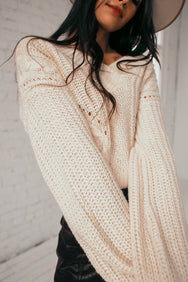 Sporty Chic V-Neck Sweater