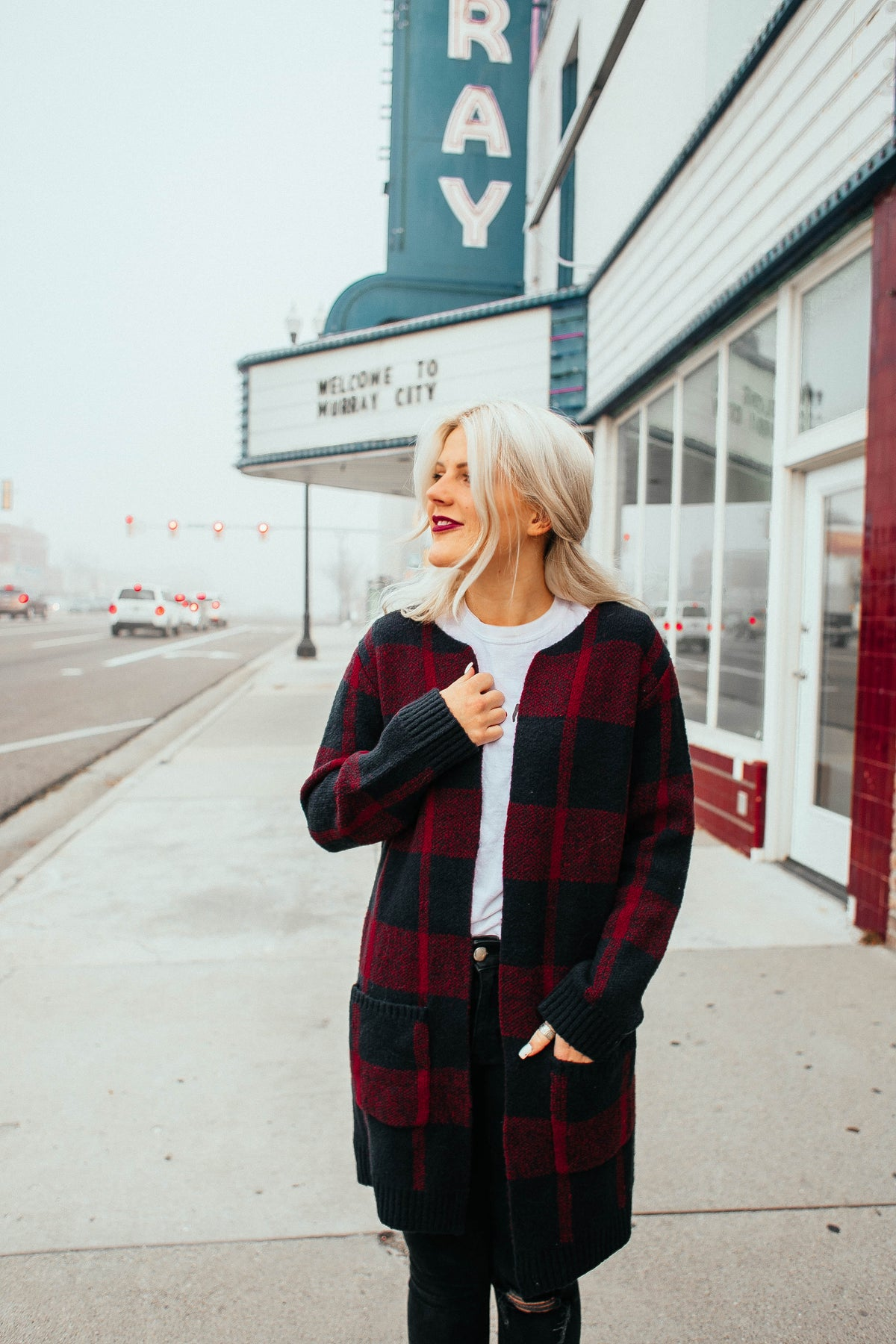 HOLLLAAAA-DAY Plaid Cardigan