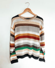 Forever Striped Knit Sweater