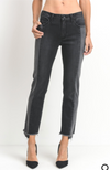 Midnight Two Toned Black Denim Jean
