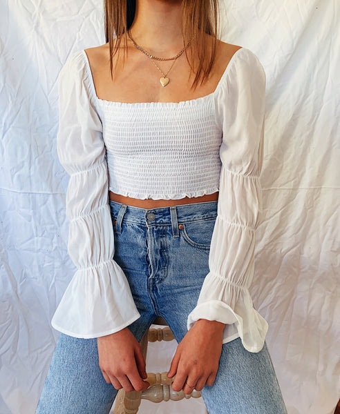 Lost In Paris Top// White