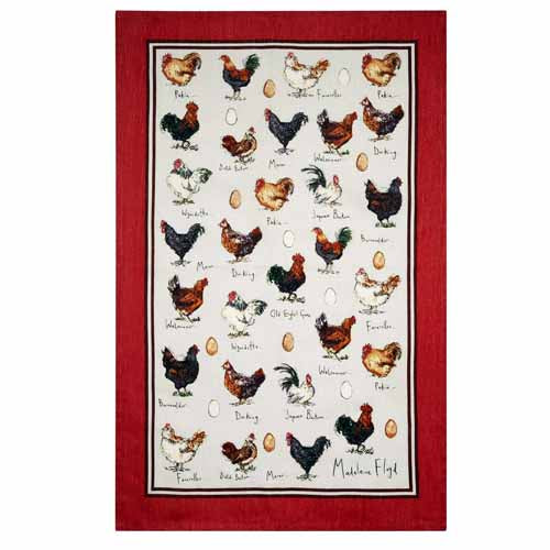 Chicken & Egg Linen Tea Towel