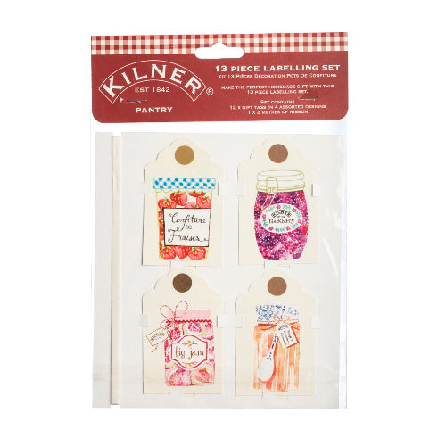 Kilner 13 Piece Labelling Set, Pantry
