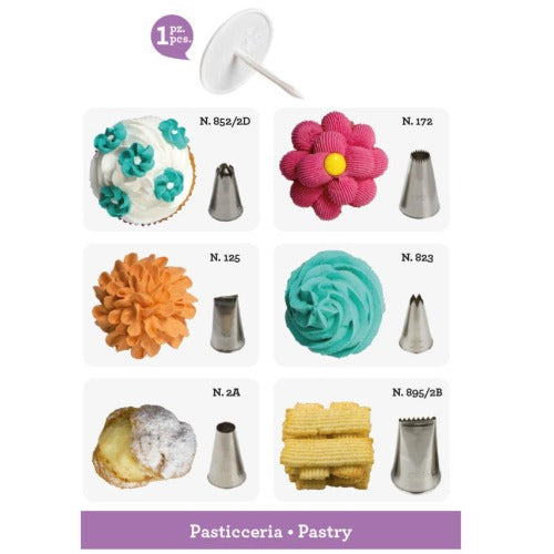 ICING & PIPING NOZZLES, 7 PIECE, PASTRY