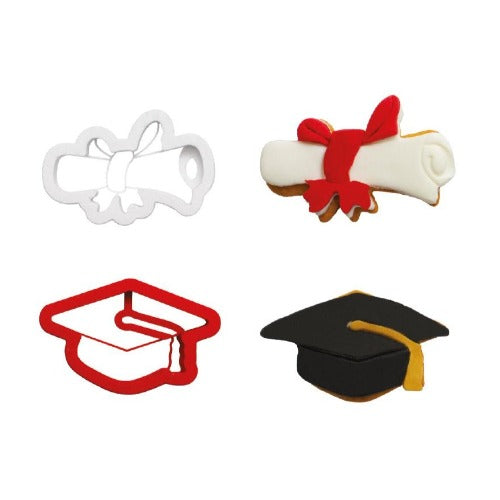 GRADUATION COOKIE CUTTERS, SET OF 2