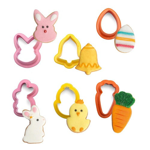 EASTER COOKIE CUTTERS, SET OF 6