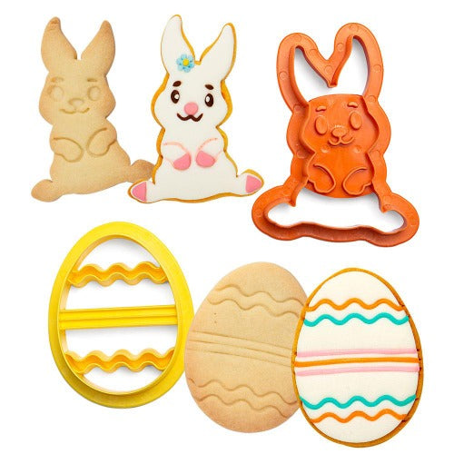 BUNNY & EGG COOKIE CUTTERS, SET OF 2