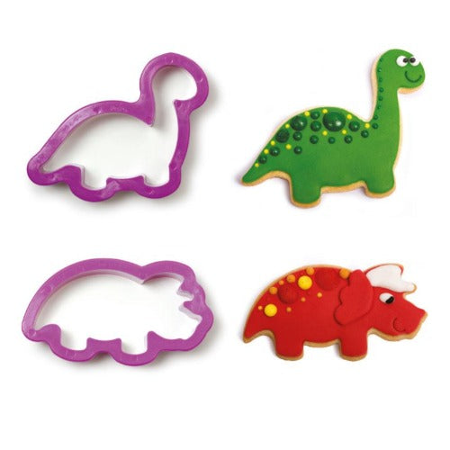 DINOSAUR COOKIE CUTTERS, SET OF 2