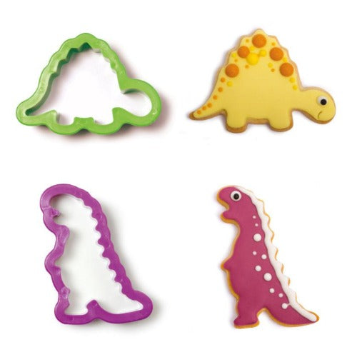 JURASSIC DINOSAUR COOKIE CUTTERS, SET OF 2