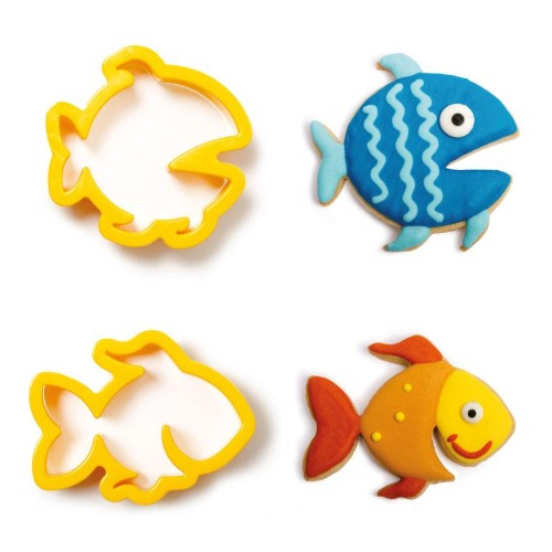 FISH COOKIE CUTTERS, SET OF 2